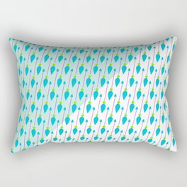 Artistic green teal hand painted bohemian arrows Rectangular Pillow