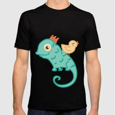 Bird & Chameleon Mens Fitted Tee MEDIUM Black
