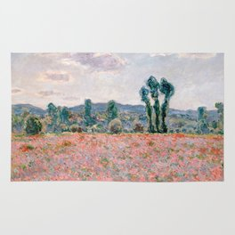 Poppy Field in Giverny by Claude Monet Rug