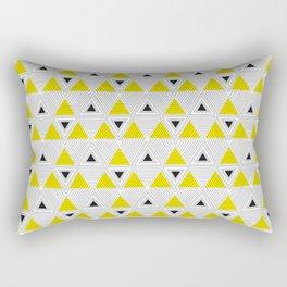 Triangle panic Rectangular Pillow