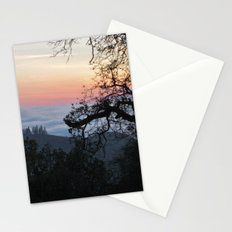 Fog-Filled Valley at Sunset Stationery Cards