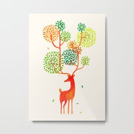 For the tree is the forest Metal Print