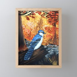 Blue Jay Life Framed Mini Art Print