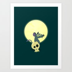 Moon Rat Art Print