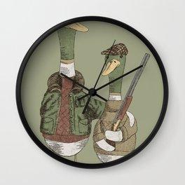 Hunting Ducks Wall Clock