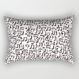Watercolor Music Notes Rectangular Pillow