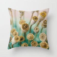 Poppy Pods Throw Pillow