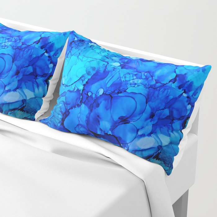 Blue Petunias Pillow Sham