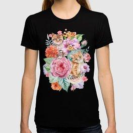 Kittens in flowers T-shirt