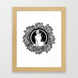 """Inktober, Day 2 """"Tranquil"""" #inktober #inktober2018 Framed Art Print"""