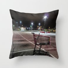 Late Night Shopping Throw Pillow