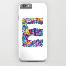 E Letter Floral iPhone 6 Slim Case