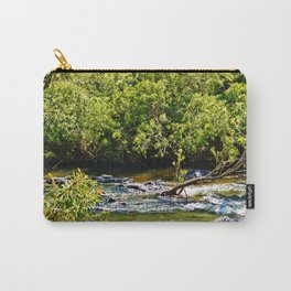 Beautiful river running over rocks Carry-All Pouch