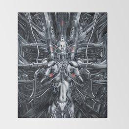 Maiden In The Machine Throw Blanket