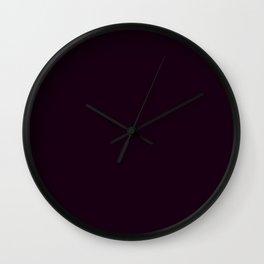 Simply Deep Eggplant Purple Wall Clock