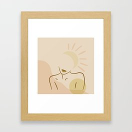 Figuer Sunset Abstract Framed Art Print