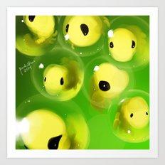 Alien Eggs speedpainting in 30mins Art Print