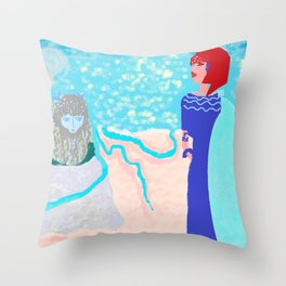 NAFSICA  FINDS ULYSSES Throw Pillow