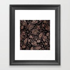 Chic dreamcatcher rose gold black illustration Framed Art Print