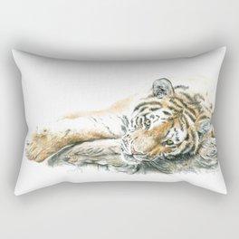 Siberian Tiger Lying Down Rectangular Pillow