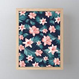 Tropical Flowers Palm Leaves Finesse #1 #tropical #decor #art #society6 Framed Mini Art Print