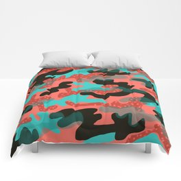 Coral Camouflage 1 Comforters