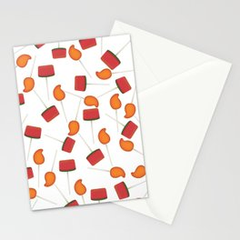 Fun colorful Mexican paletas pattern Stationery Cards