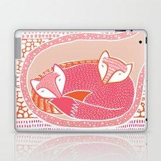 Sleepy Happy Foxes Laptop & iPad Skin