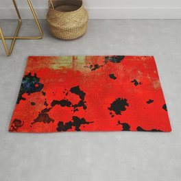 Red Modern Contemporary Abstract Textured Design Rug