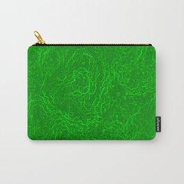 Neon Green Alien DNA Plasma Swirl Carry-All Pouch