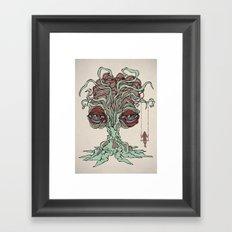 She Swings Framed Art Print
