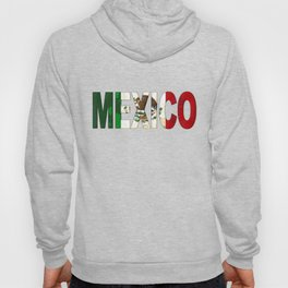 Mexico Font with Mexican Flag Hoody