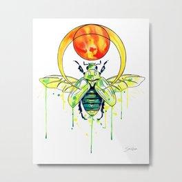 Scarab Beetle Metal Print