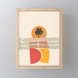 Modern shapes 4 Framed Mini Art Print
