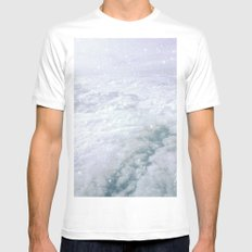Stars in the Clouds Mens Fitted Tee MEDIUM White