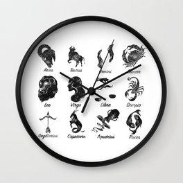 Zodiac Star Chart Wall Clock