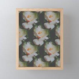 Rose Vintage Pattern Framed Mini Art Print