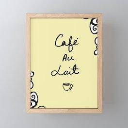 Cafe Au Lait II Framed Mini Art Print