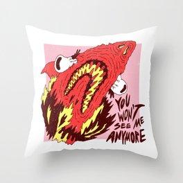 Jaws X Neutral Milk Throw Pillow