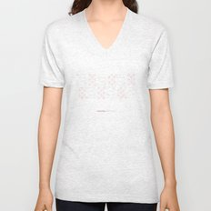 Hungarian Embroidery no.19 Unisex V-Neck