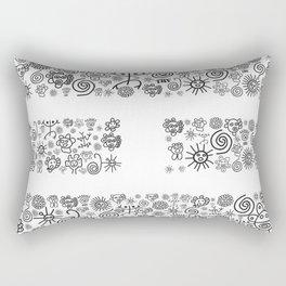 Fire: Black and White Rectangular Pillow