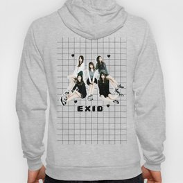 EXID Black Hearts and Grid Hoody