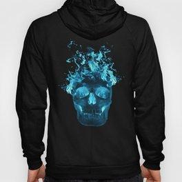 Blue Flame Skull Hoody