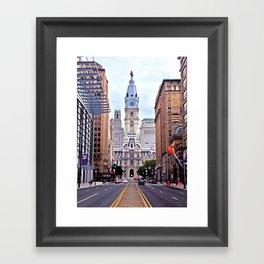 Broad Street, Philadelphia Framed Art Print