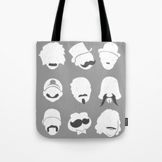 Famous Moustaches grey Tote Bag