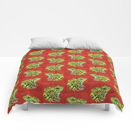 Spotted Frog Friend Pattern Comforters