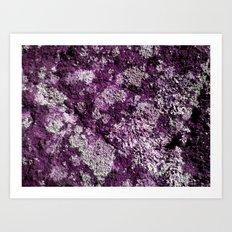 Purple Moss Art Print