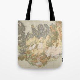 Vintage Geological Map of Iceland (1901) Tote Bag