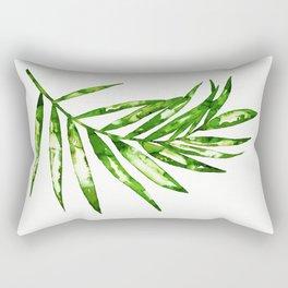 Green ink painting - fern Rectangular Pillow