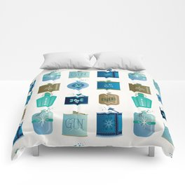 Flask Collection – Blue and Tan Palette Comforters